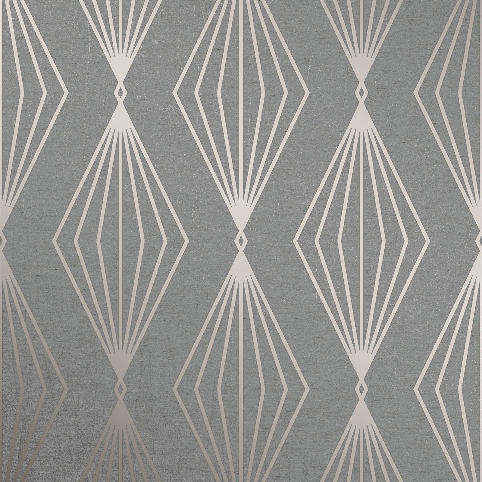 Boutique 52cm x 10m Marquise Geo Quartz Wallpaper