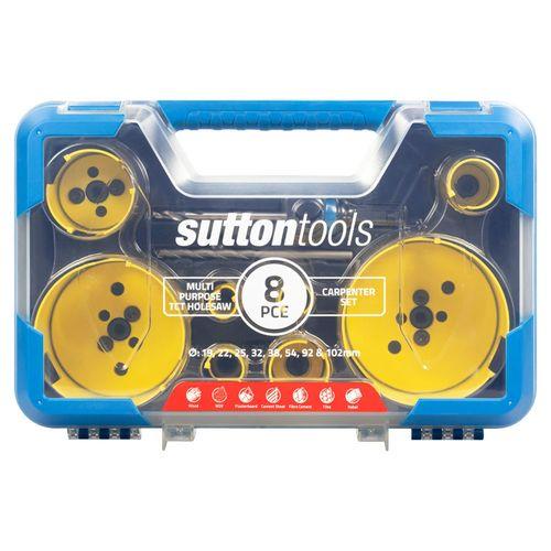 Sutton Tools 8 Piece Multi-Purpose Carpenter Holesaw Set
