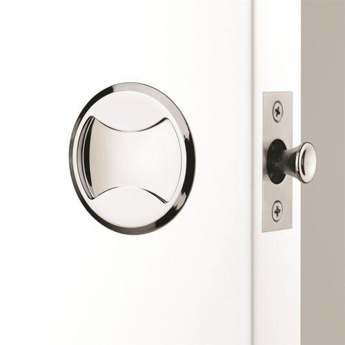 Lockwood Satin Chrome Pearl Cavity Slider Passage Set