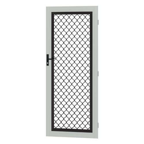 Protector Aluminium 808-848 x 2030-2070mm Adjustable Grille Security Door - Shale Grey