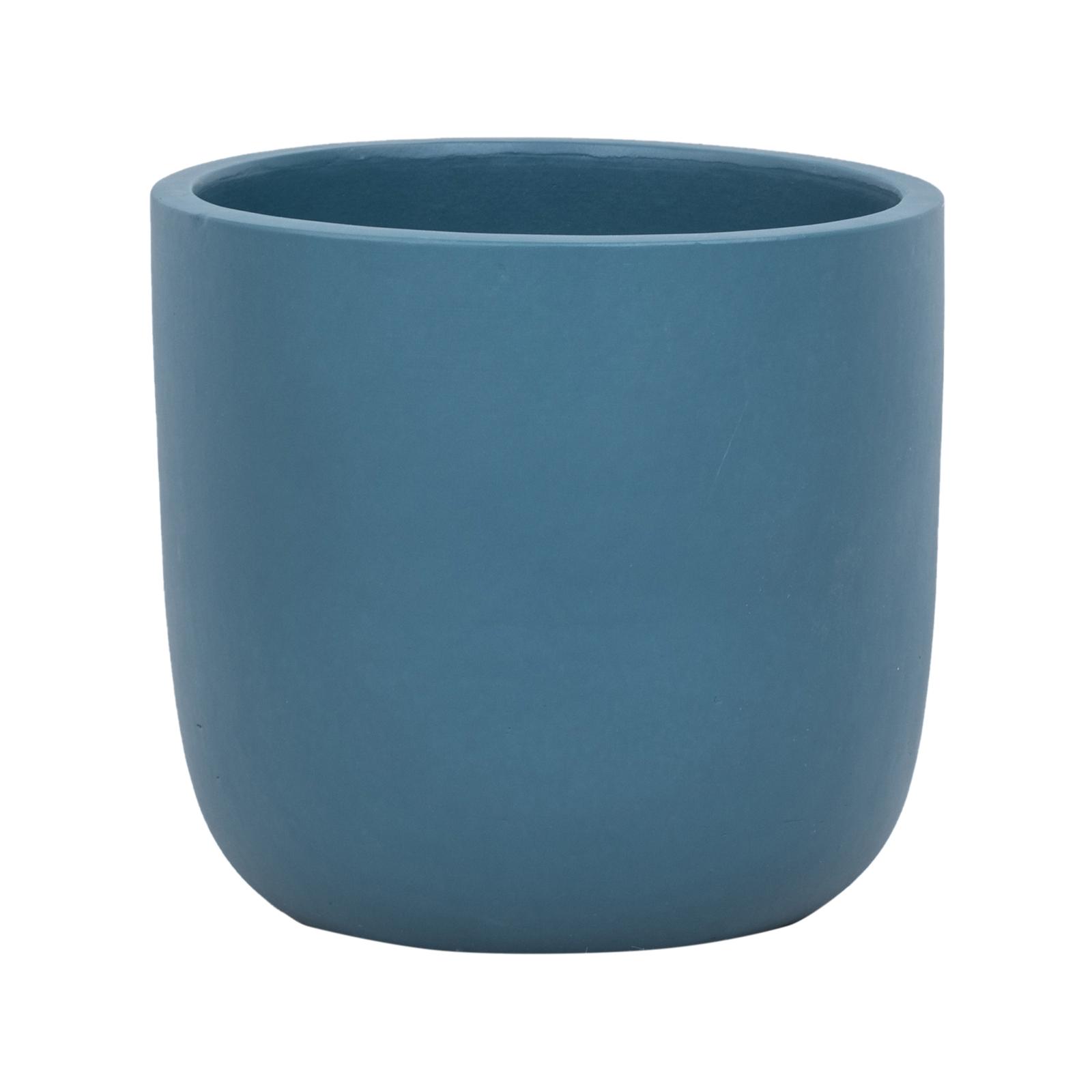 Lotus 28 x 25cm Navy XL Plain Ceramic Egg Pot
