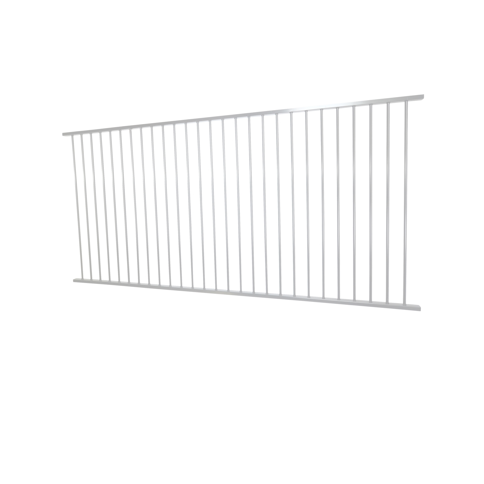 Protector Aluminium 2450 x 1200mm Flat Top Ulti-M8 Fence Panel - Pearl White