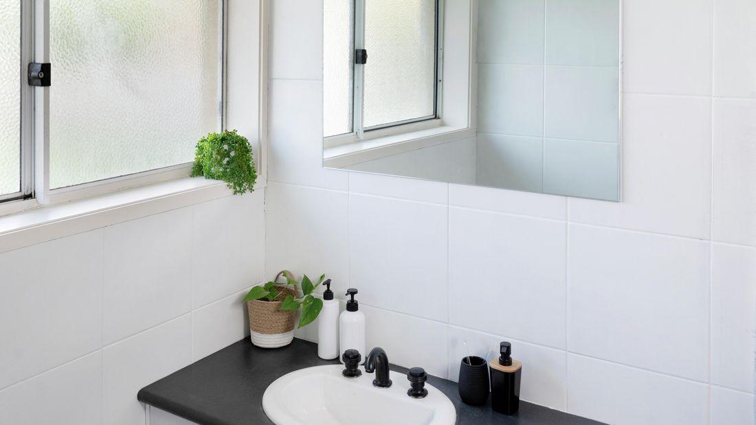 DIY Step Image - How to paint bathroom tiles. Blob storage upload.