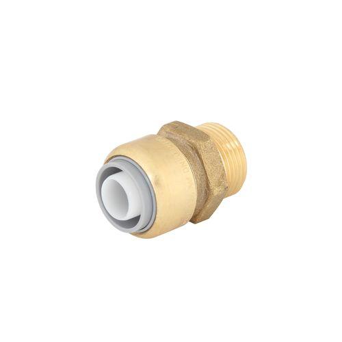 "SmarteX P 20mm x 3 / 4"" Push Fit Brass Pex Male Connector"