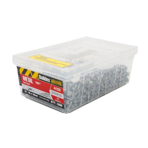 Buildex 10-16 x 16mm Climaseal Metal Tek Screws - 1000 Box