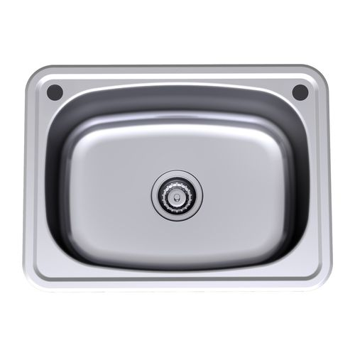 Clark 45L Stainless Steel Flushline Single Laundry Tub With By-Pass