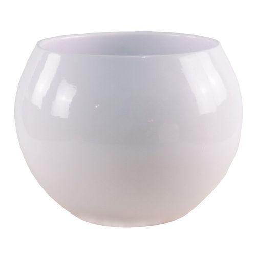 Tuscan Path Ava Glazed Moon Pot - White