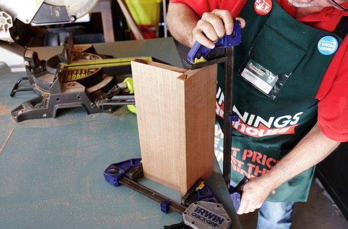 DIY Step Image - D.I.Y. wooden sofa arm table . Blob storage upload.