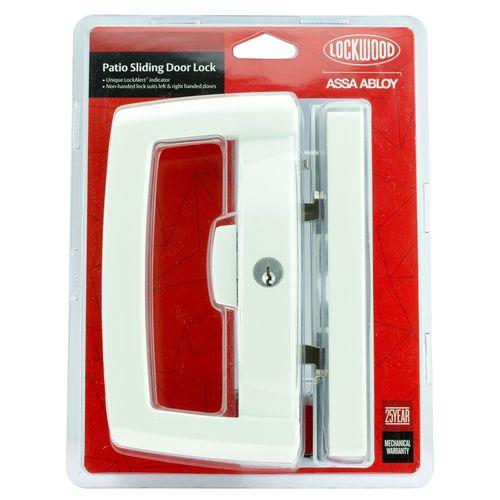 Lockwood Onyx Dual Handed Patio Sliding Door Lock - White