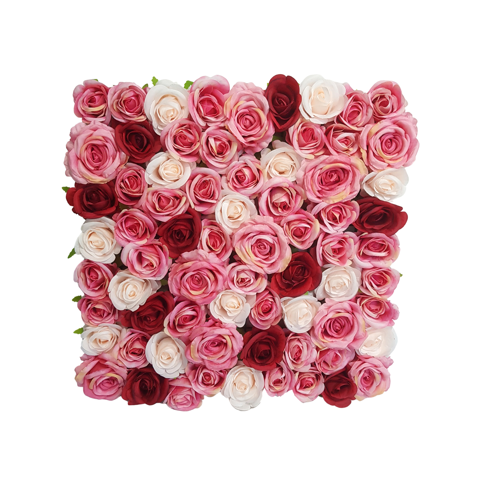 Unreal 50 x 50cm Multi Flower Wall Artificial Hedge Tile