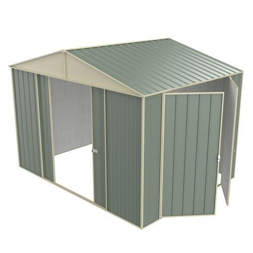 Build-a-Shed 3.0 x 2.3 x 2.3m Gable Double Hinged Side Door Shed - Green