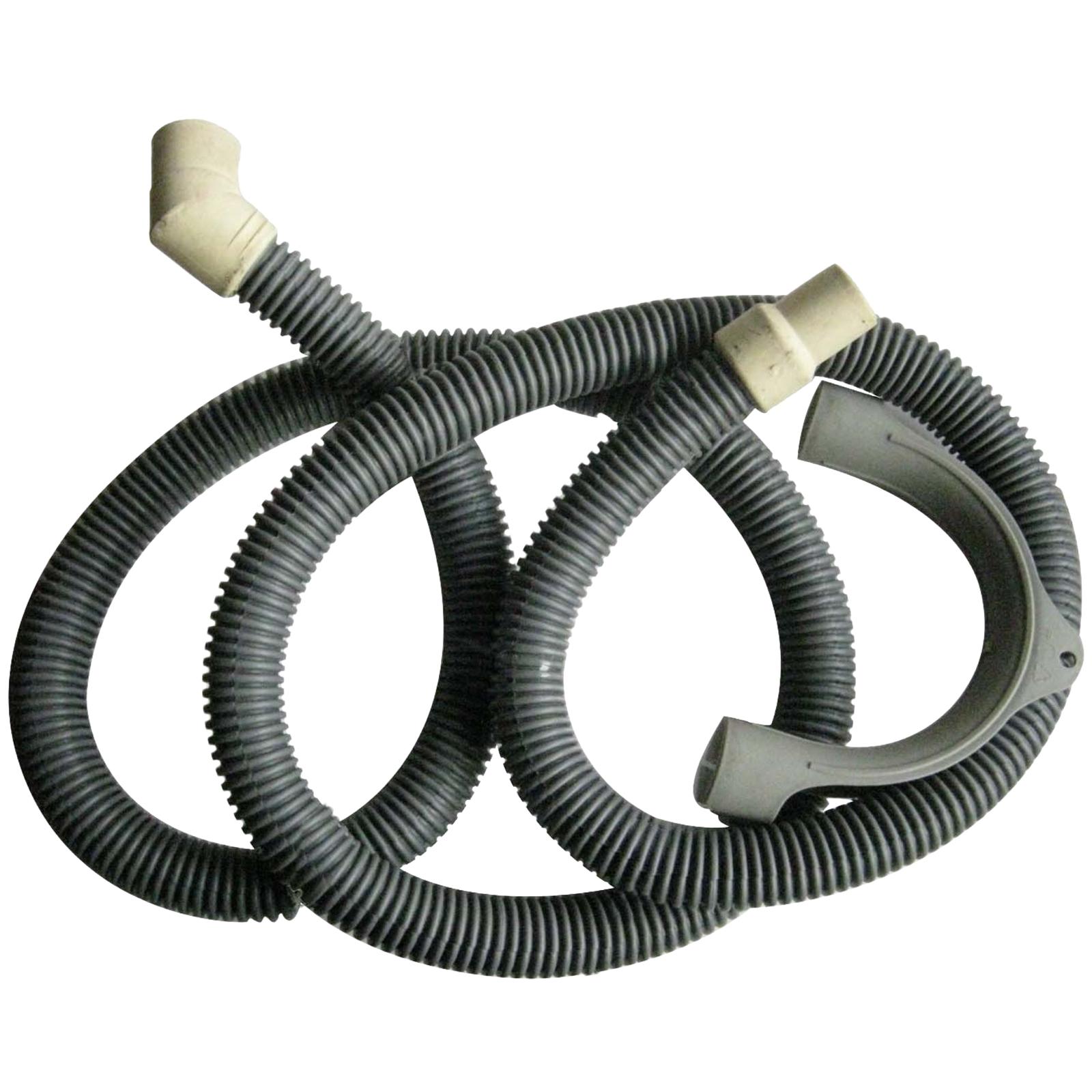 Kinetic 2m Grey PVC Washing Machine And Dishwasher Outlet Drain Hose