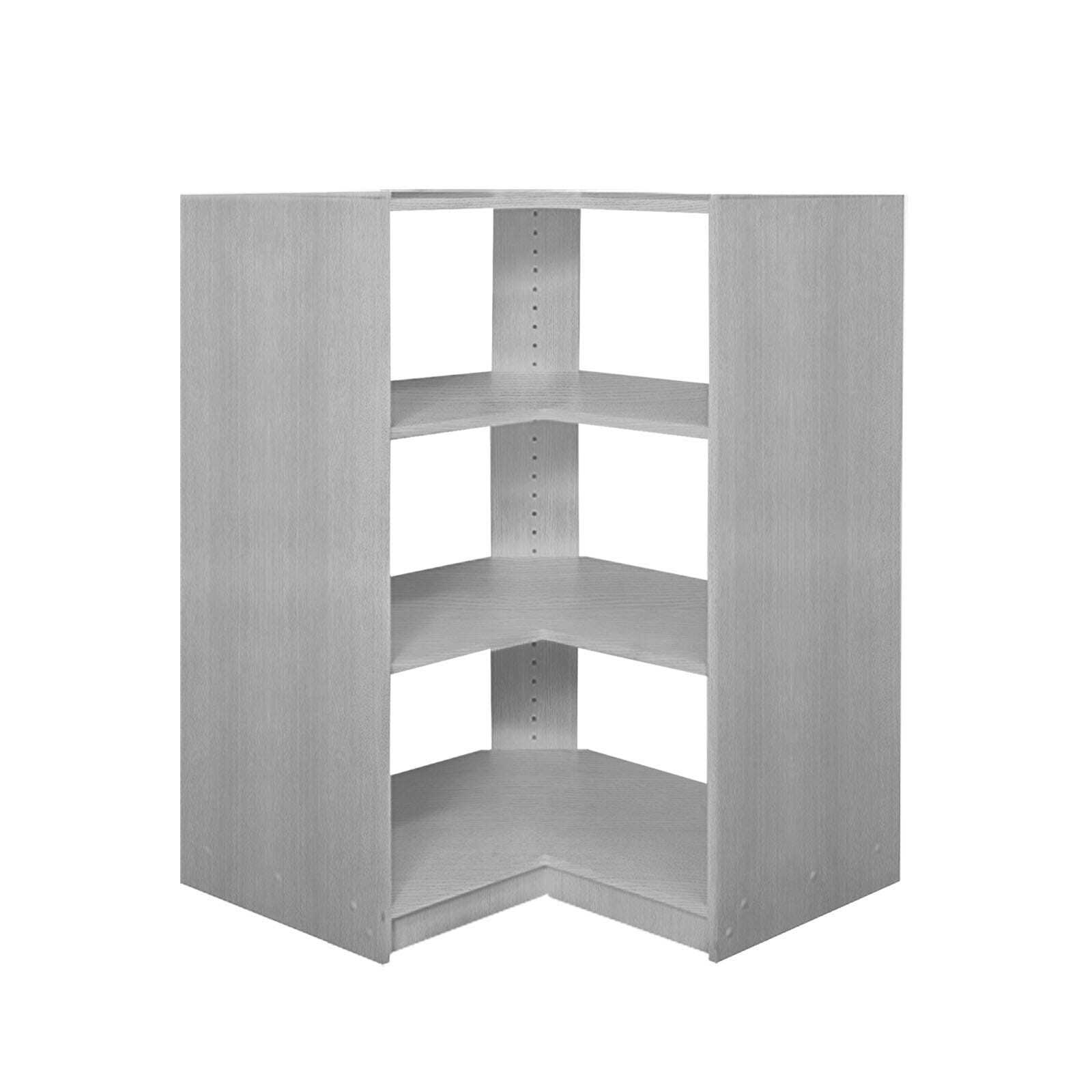 Multistore 1035 x 800 x 450mm Mist Grey 2 Shelf Corner Unit