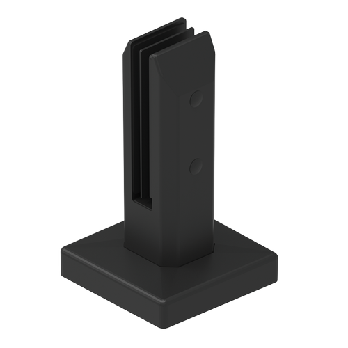 Architects Choice 95 x 95 x 162mm Black Stainless Steel Glass Fence Chisel Mini Post - 6 Pack