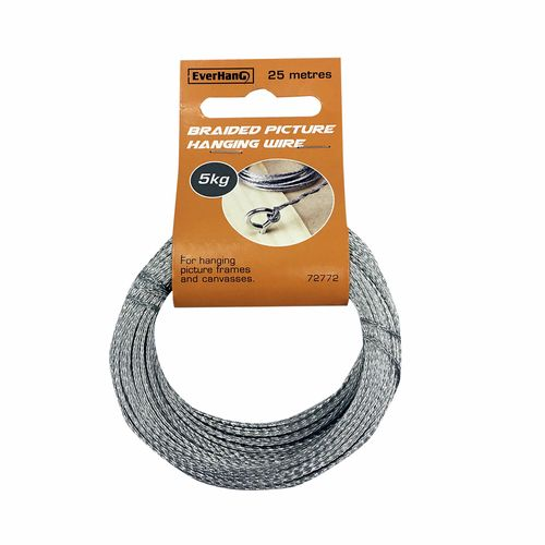 Everhang 25m 5kg Load Braided Picture Hanging Wire
