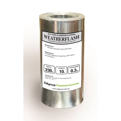 Consolidated Alloys 230 x 0.3mm x 10m Weatherflash
