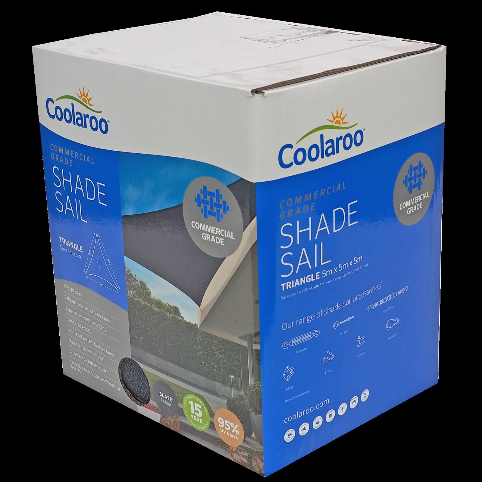 Coolaroo 5.0m Slate Triangle Commercial Shade Sail
