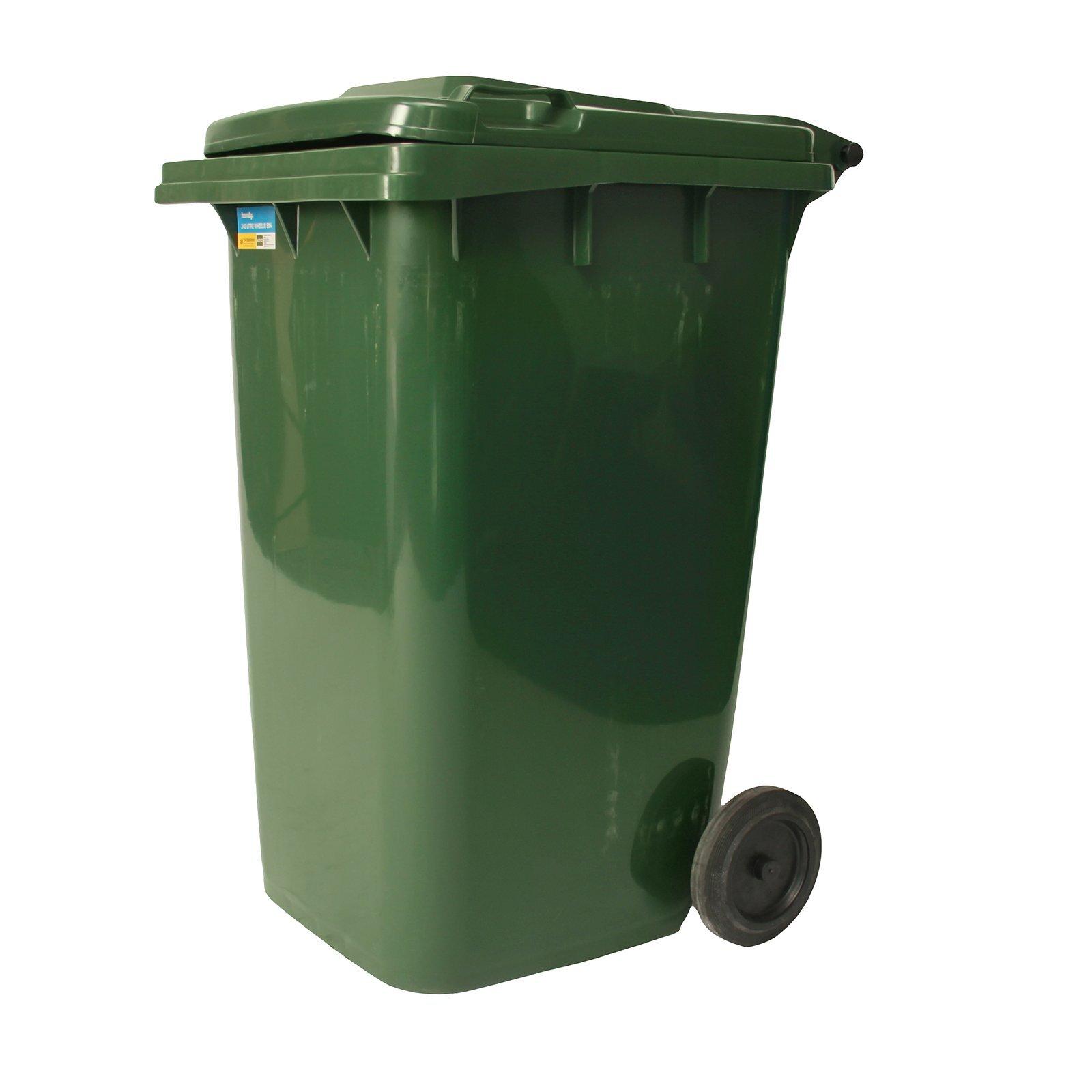 Handy 240L Green Wheelie Bin