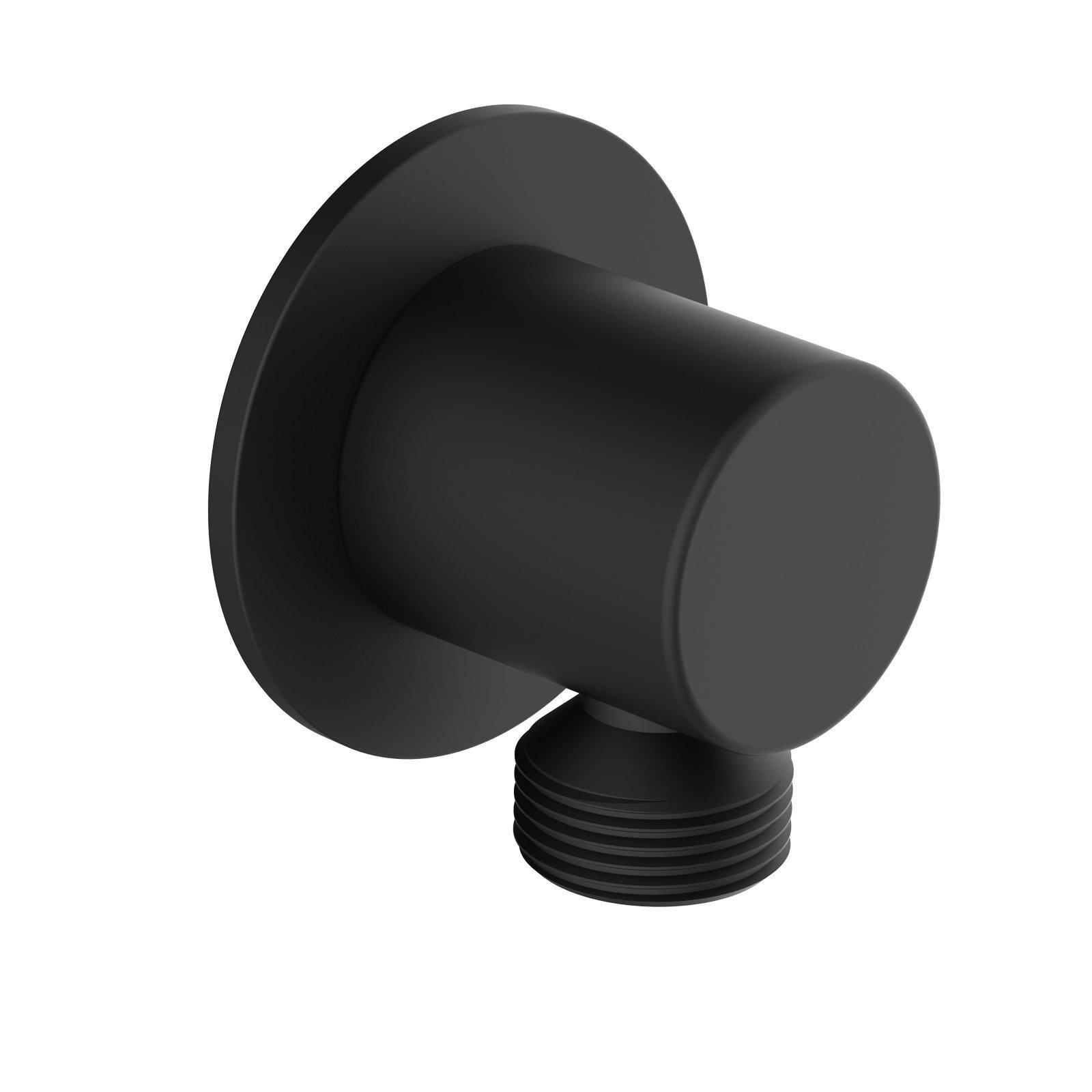 Mondella Matte Black Resonance Round Shower Elbow