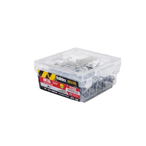 Buildex 12-14 x 20mm Climaseal Hex HeadMetal Tek Screw with Seal  - 100 Box