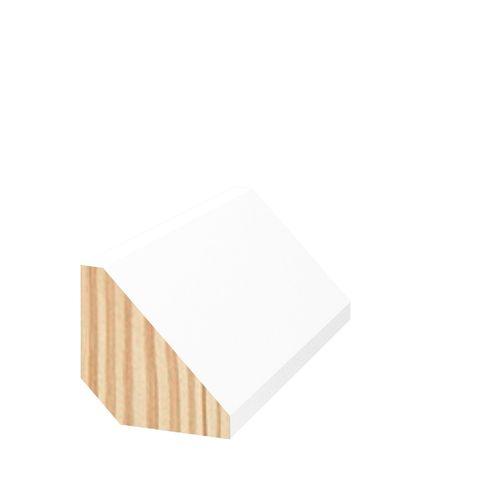 19 x 19mm 2.7m Primed Pine Tri Quad Moulding