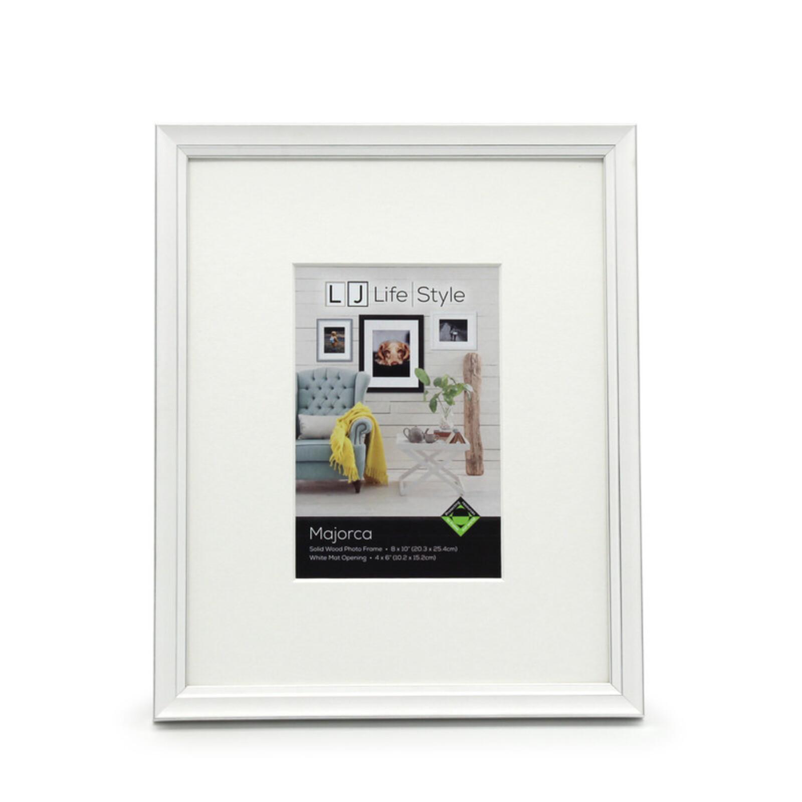 Majorca 8 x 10inch/4 x 6inch Opening White Photo Frame
