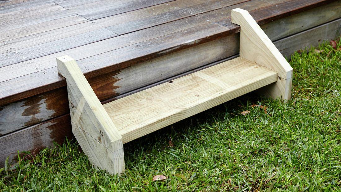 DIY Step Image - How to build outdoor steps. Blob storage upload.