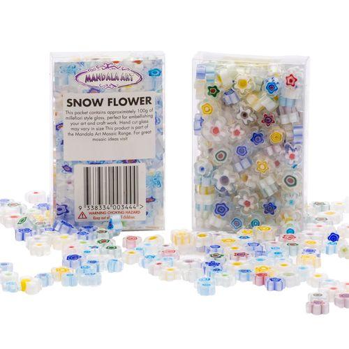 Mandala Art Millefiori Snow Flower Glass Craft Pieces