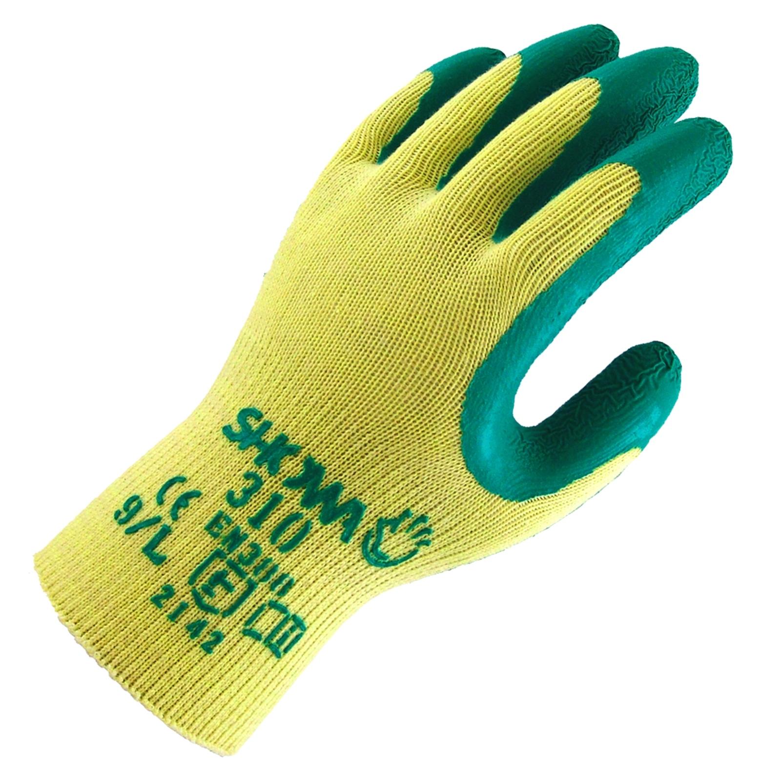 Lynn River Large Green and Yellow Showa 310 Latex Gardening Gloves