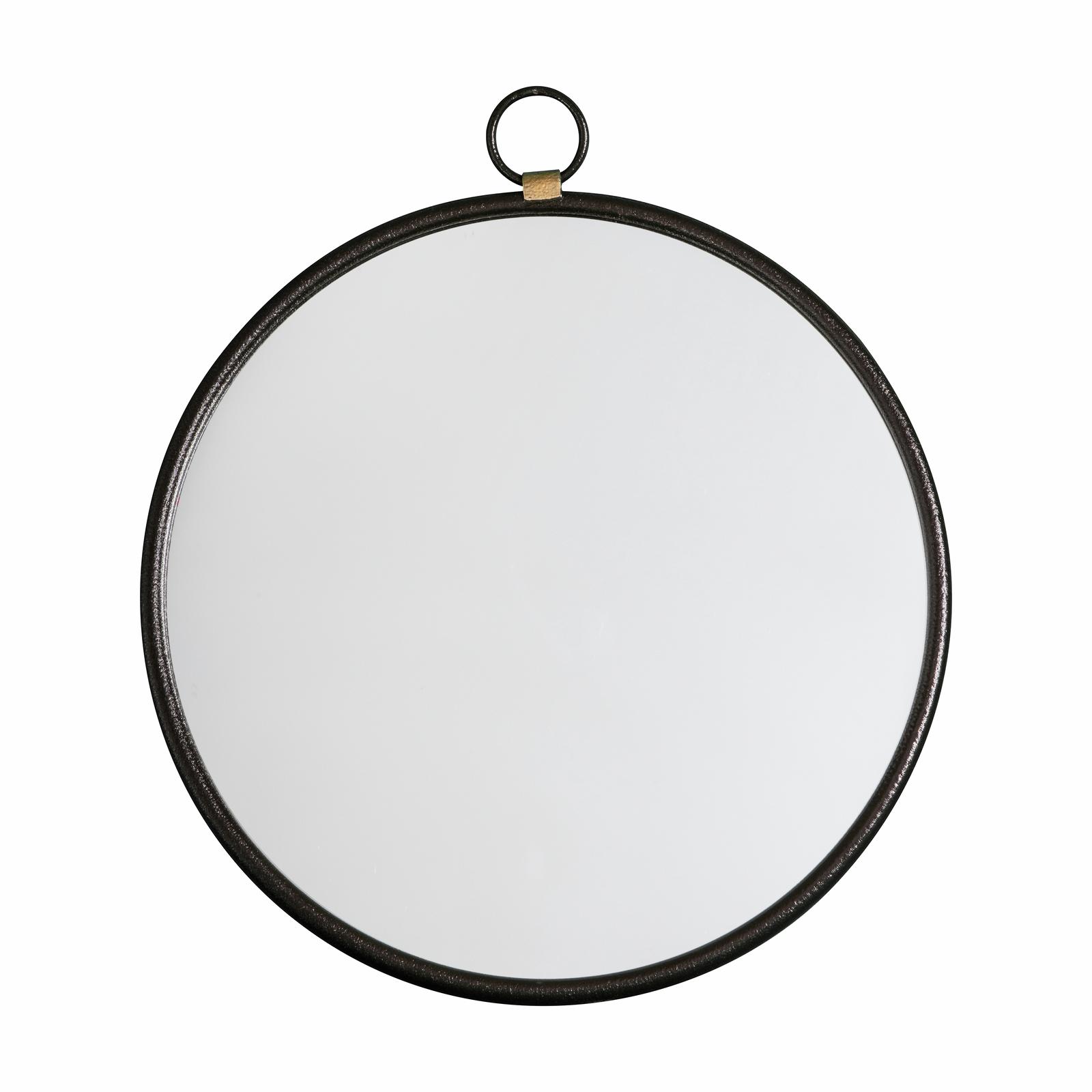 Bayswater 610 x 700mm Black Round Mirror