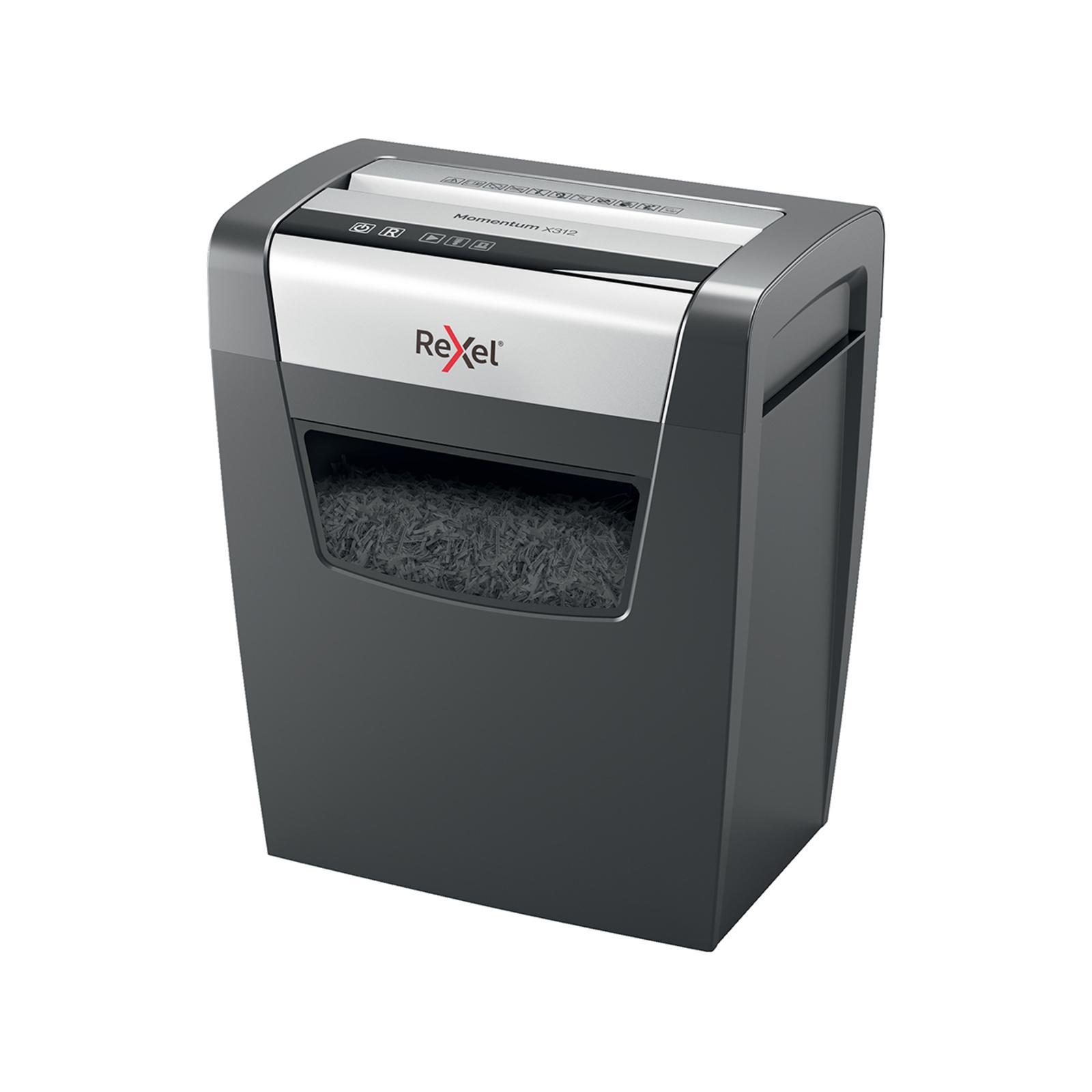 Rexel Momentum X312 Office/Home 23L Cross Cut Shredder A4 Paper 12 Sheets Cutter