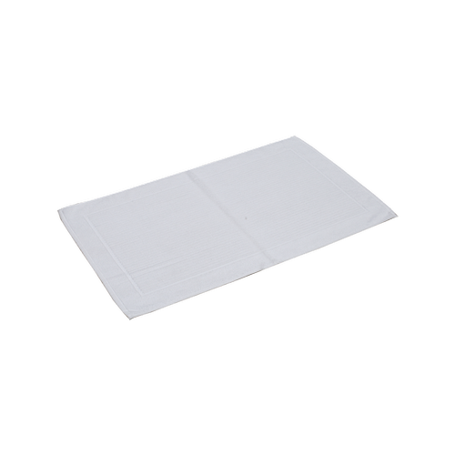 Softouch 800 x 500mm White Cotton Bathmat