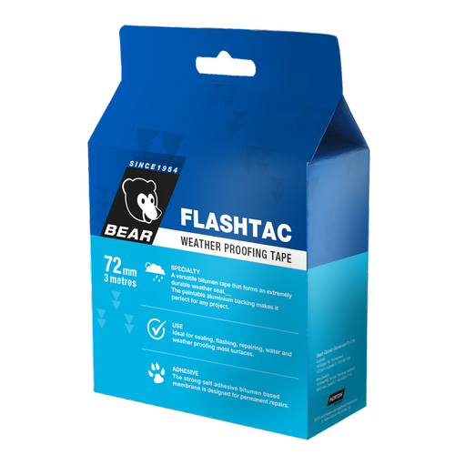 Bear 72mm x 3m Weathproof Flashtac Tape