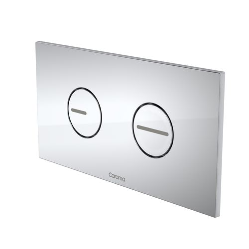 Caroma Chrome Invisi II Round Dual Flush Plate and Buttons