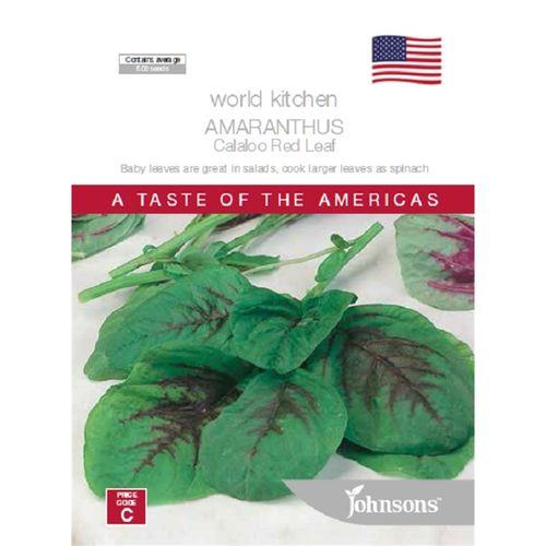 Johnsons Seed Amaranthus Calaloo Red Leaf World Kitchen