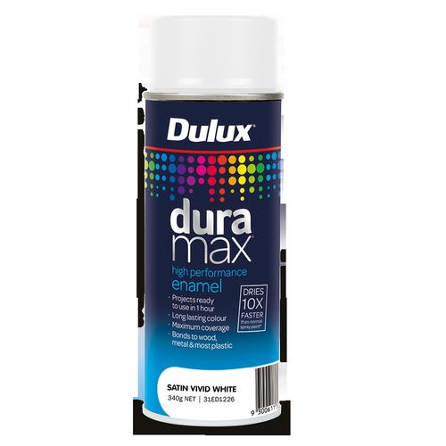 Dulux 340g Duramax Satin White Spray Paint