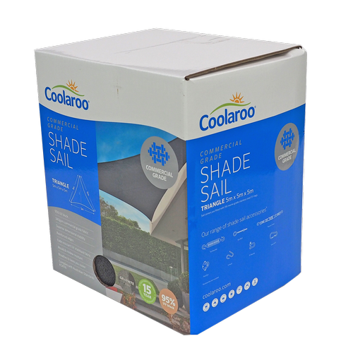 Coolaroo 5.0m Graphite Triangle Commercial Shade Sail