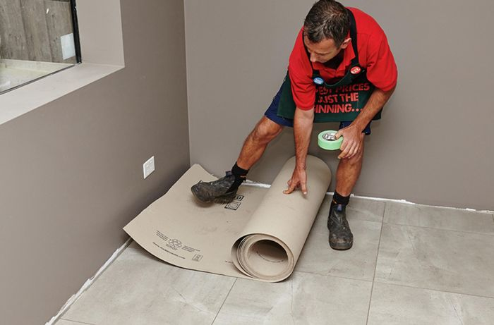 DIY Step Image - How to protect your floors . Blob storage upload.
