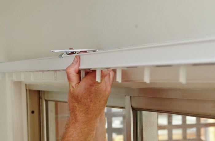 DIY Step Image - How to install vertical blinds . Blob storage upload.