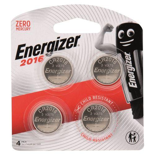 Energizer 3V Lithium Coin CR2016 Batteries - 4 Pack