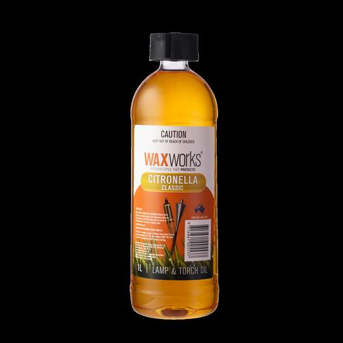 Waxworks Citronella Scented Lamp Oil - 1L