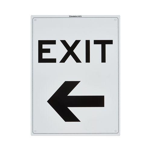 Sandleford 300 x 225mm Exit Left Plastic Sign