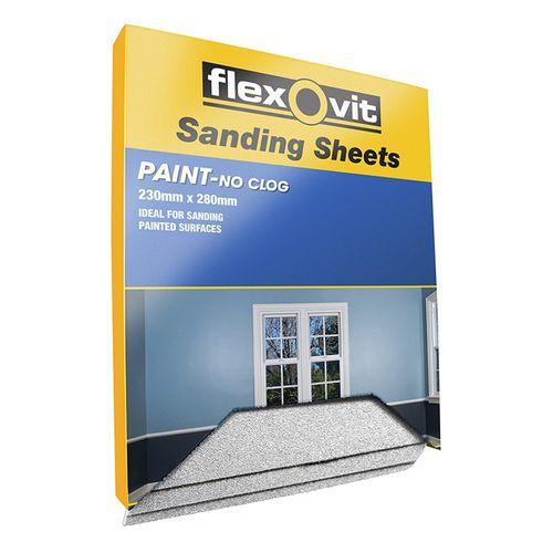 Flexovit Sanding Sheet for Painted Surfaces 230 x 280mm 80 Grit