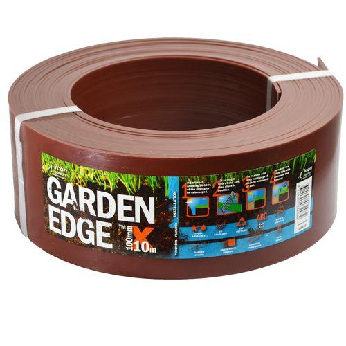 Icon Plastics 100mm x 10m Jarrah Garden Edge