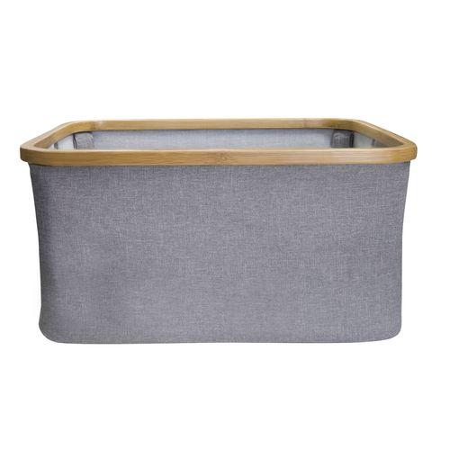 Hills Foldable Bamboo Laundry Basket - Smoke