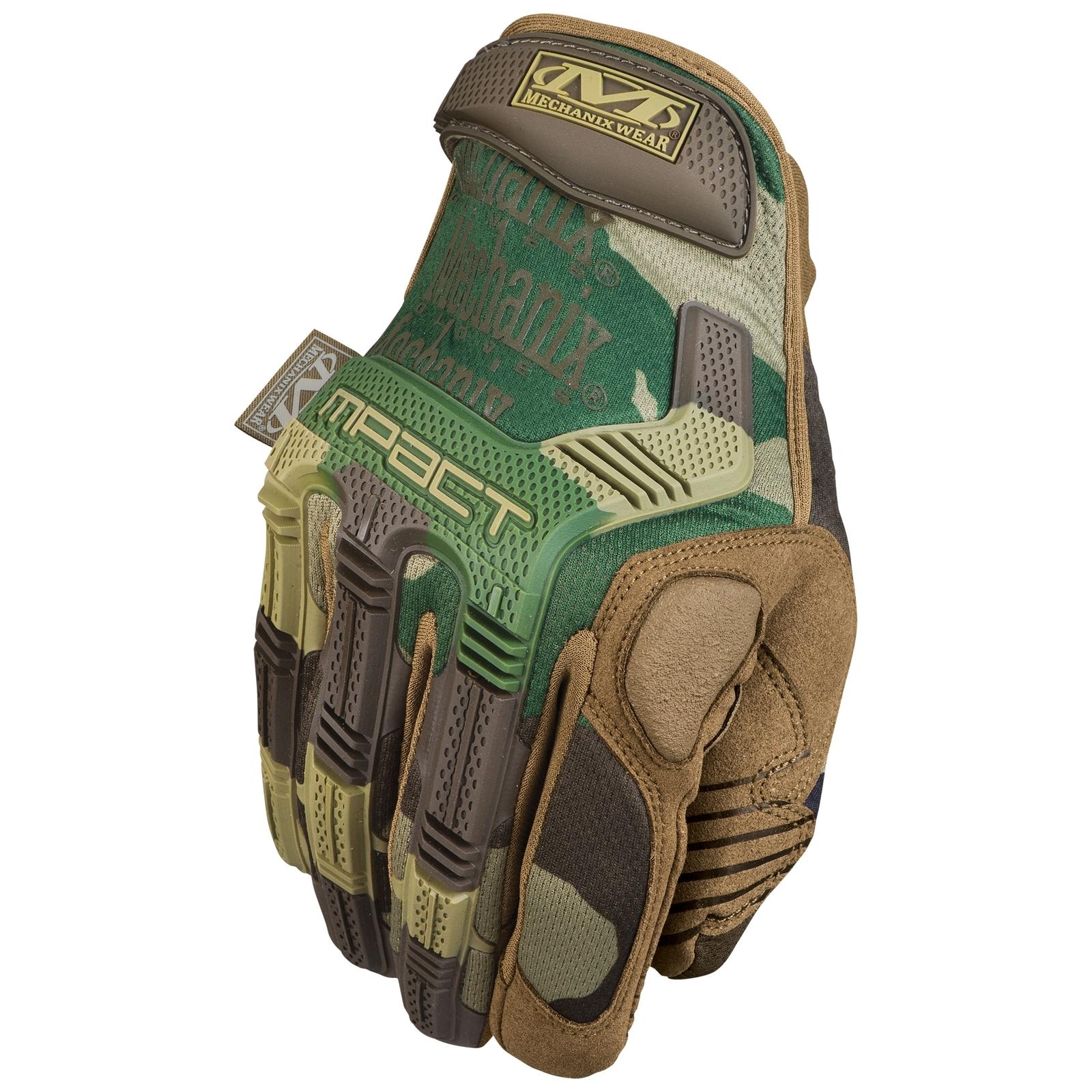 Mechanix Wear M-Pact Woodland Camo Gloves - Large