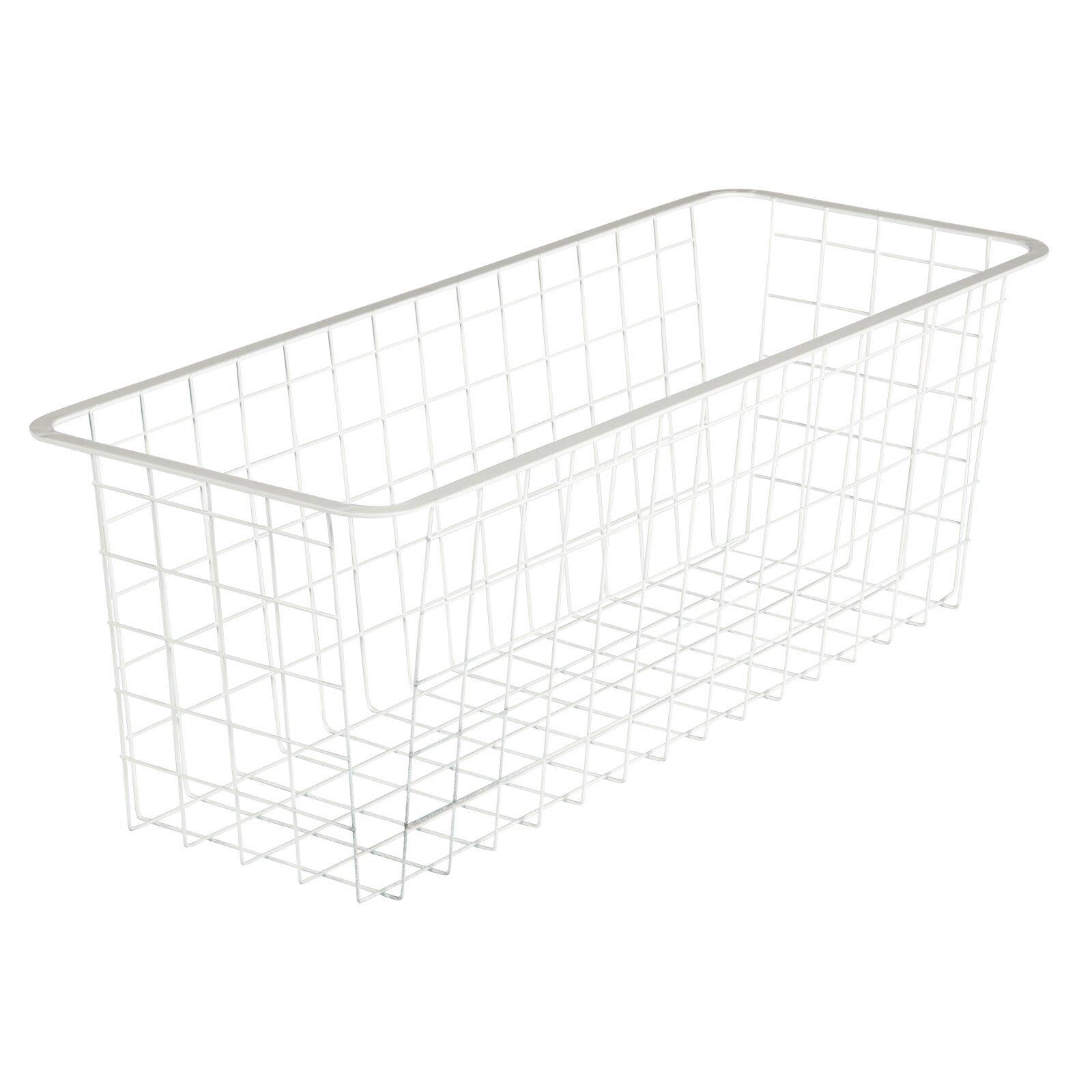Flexi Storage 205mm White 2 Runner Half Width Mesh Basket
