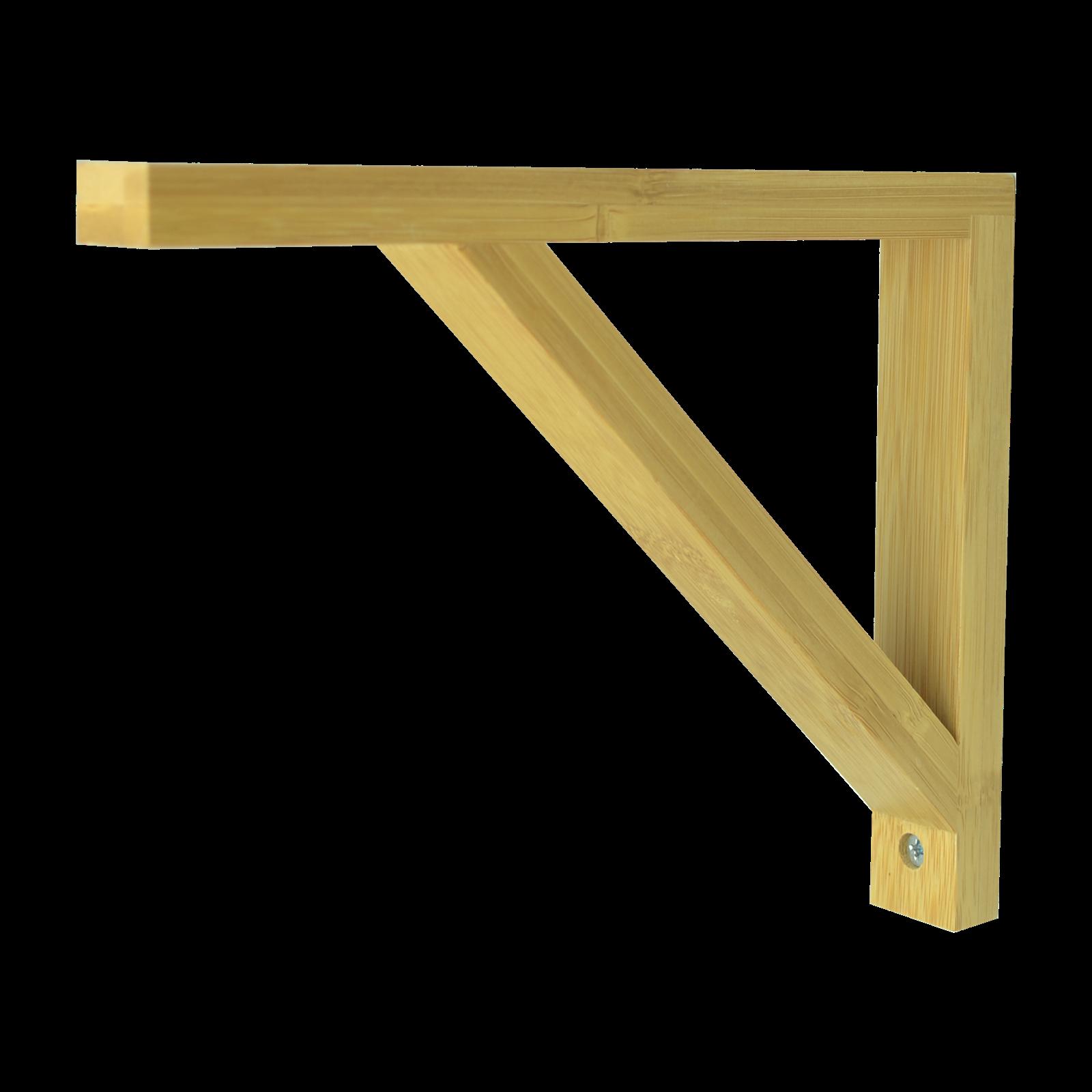 Carinya 170 x 210 x 30 x 15mm Varnished Bamboo Angle Bracket