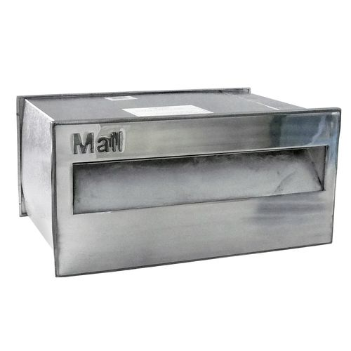 Velox 230mm Polished Silver Super Deluxe Back Open Letterbox