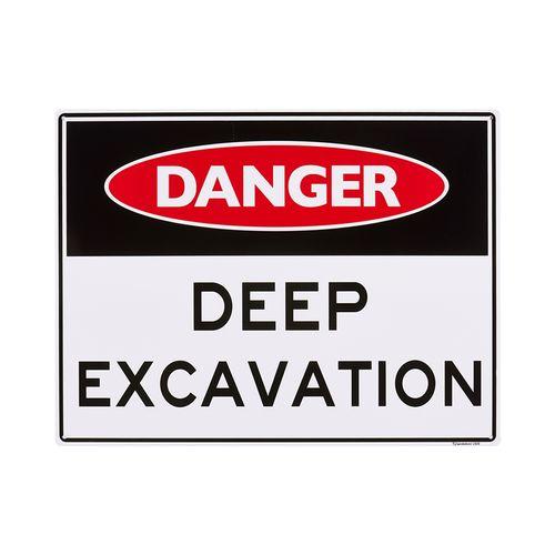 Sandleford 450 x 600mm Deep Excavation Plastic Sign